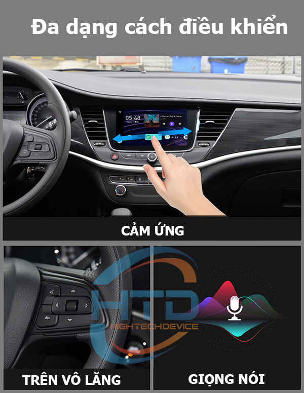 Đa dạng điều khiển HTD Smart Carplay AI Box D10